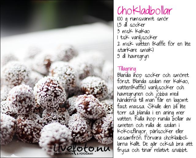 recept för chokladbollar